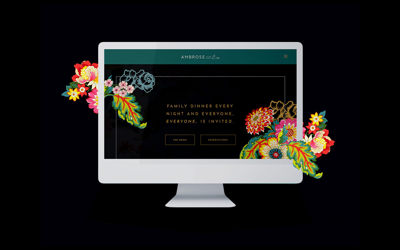 Ambrose & Eve Restaurant Website Design