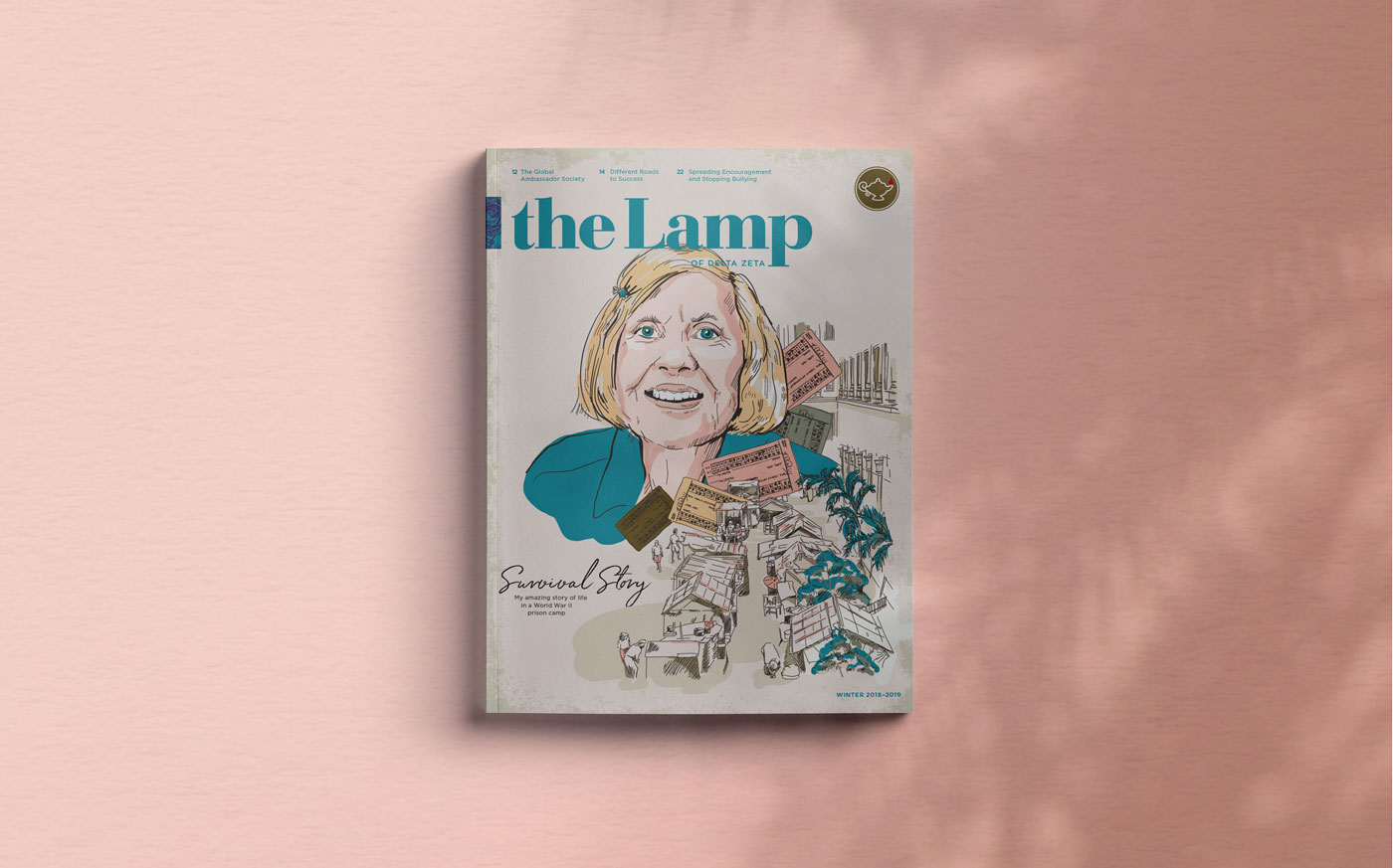 mockup of The Lamp cover illustration